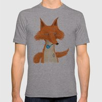 Fox III Mens Fitted Tee Athletic Grey SMALL