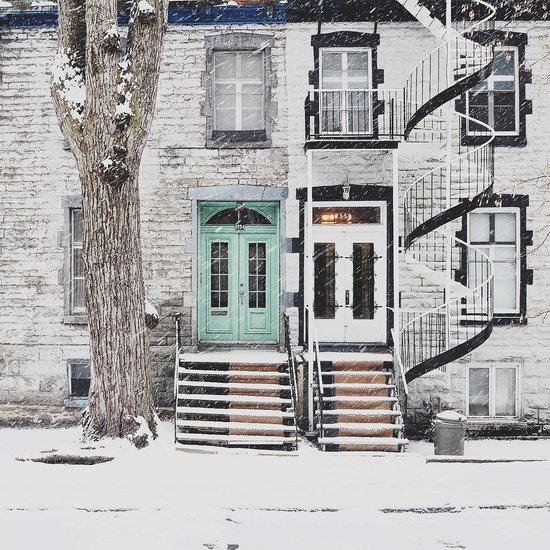 Snow in Montreal Art Print