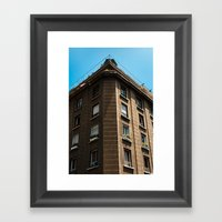 Building And Sailing Framed Art Print