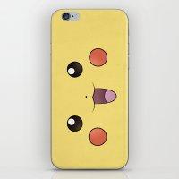 Pikachu - Minimal Pokemo… iPhone & iPod Skin