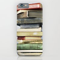 iPhone & iPod Case featuring Stacked Vintage Books by Kimberly Blok