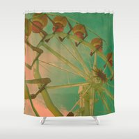 wheel carousel Shower Curtain