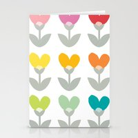 Heart petals Stationery Cards