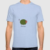Olive Ewe. Mens Fitted Tee Athletic Blue SMALL