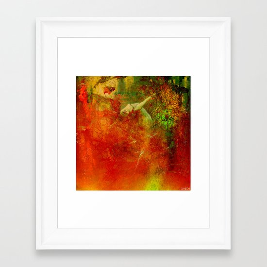 The clearing of the elfs Framed Art Print