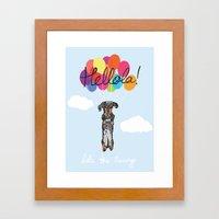 Lola The Sausage Framed Art Print
