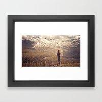 Whit on Top of the World Framed Art Print
