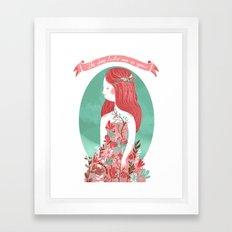 The dress looks nice on you Framed Art Print
