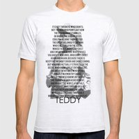 TEDDY Mens Fitted Tee Ash Grey SMALL