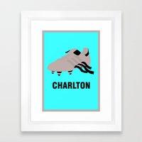 Bobby Charlton - Comb Over Framed Art Print