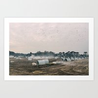 Burning Old Straw Beddin… Art Print