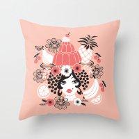 Jelly Miranda - Pink Throw Pillow