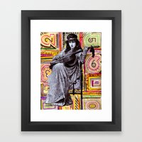 Guitarist In Time Framed Art Print