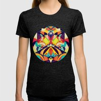 Poetry Geometry Womens Fitted Tee Tri-Black SMALL