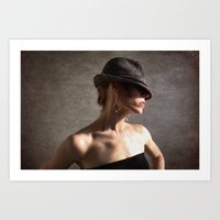 Fedora Vogue Art Print
