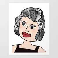 Digital Paper Doll 04 Art Print