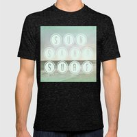 Sun, Sand, Surf  II Mens Fitted Tee Tri-Black SMALL