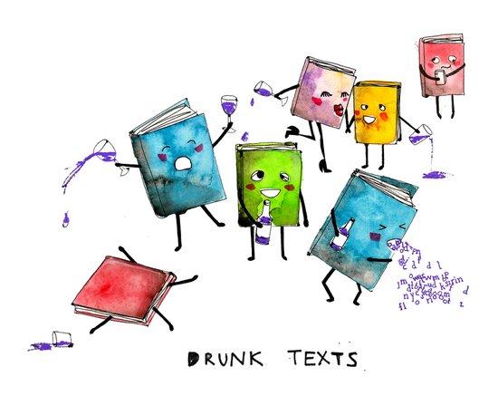 Drunk Texts Art Print