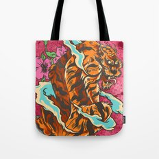Skating Tiger , Hidden F… Tote Bag