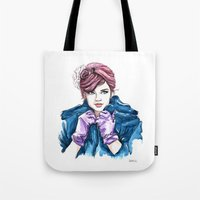 Girl With The Purple Glo… Tote Bag