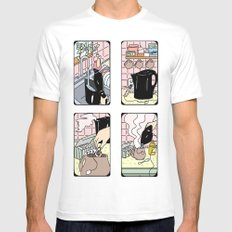 How To Make Tea White SMALL Mens Fitted Tee