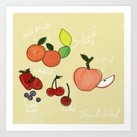 Mixed Fruit Illustration Art Print