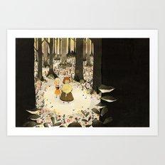 Sweet Porridge: Forest Scene Art Print