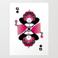 Queen Os Spades Art Print