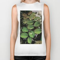 Mini Water Lilies and Water Bug Biker Tank