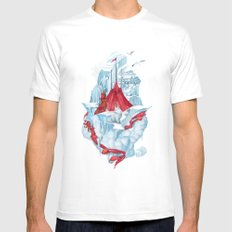 ice  White SMALL Mens Fitted Tee
