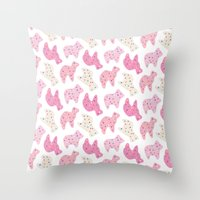 Animal Cookies - in Multi Throw Pillow