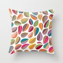 Leaf Colorful Throw Pillow