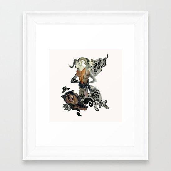 Caprica and her Dog Framed Art Print