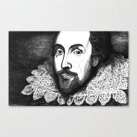 William Shakespeare Port… Canvas Print