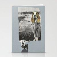 Tête de chien Stationery Cards