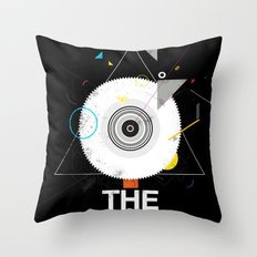 The saw tree Throw Pillow