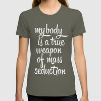 MASS SEDUCTION Womens Fitted Tee Lieutenant SMALL