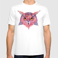 Owla owl Mens Fitted Tee White SMALL