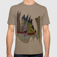 GOLDEN PRAGUE Mens Fitted Tee Tri-Coffee SMALL