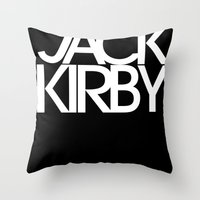 Classic : Jack Kirby Bla… Throw Pillow