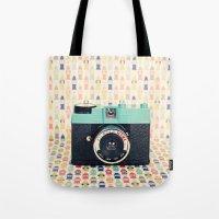 Blue Diana Mini Camera -… Tote Bag