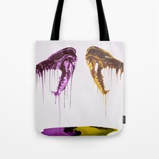 Painted Skull Tote Bag