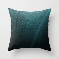 Teal Galaxy Throw Pillow