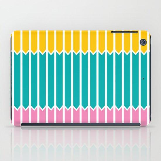 Arrows (Yellow, Aqua, Pink) iPad Case