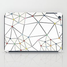 Seg with Color Spots White iPad Case