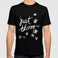 Just Bloom Mens Fitted Tee Black SMALL