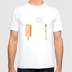 Light My Fire! Mens Fitted Tee White SMALL