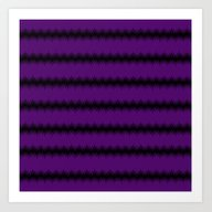 Black Lacey Pattern On P… Art Print