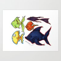 Fishy Fishes Art Print