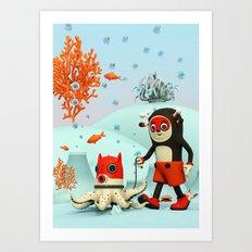 Deeryk and DaPet Art Print